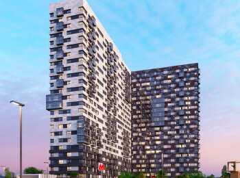 Оформление фасада жилого комплекса